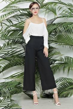 Set Áo kiểu nữ đẹp và Quần ống suông đen lửng #979