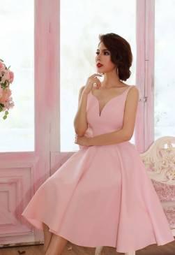 Đầm xòe dự tiệc đẹp thiết kế hở lưng chữ V tinh tế #981