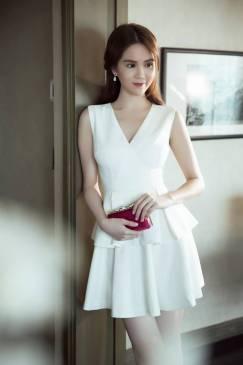 Váy xòe trắng Ngọc Trinh thiết kế xòe 2 tầng dễ thương #1010