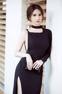 Váy hở lưng Ngọc Trinh thiết kế ôm body cực phong cách #1015