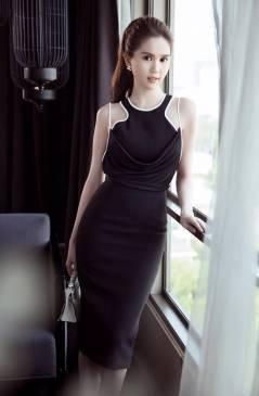 Váy dự tiệc sang trọng thiết kế ôm body như Ngọc Trinh #1019