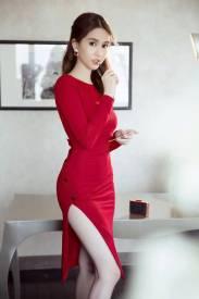 Váy hở lưng chữ V thiết kế ôm body đẹp như Ngọc Trinh #1023