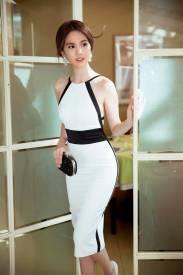 Váy hở lưng đẹp thiết kế ôm body đẹp như Ngọc Trinh #1024