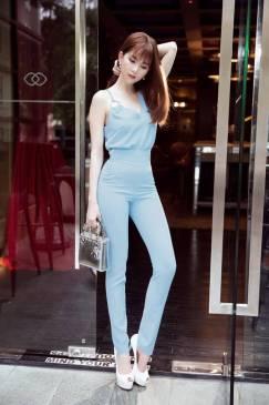 Bộ quần áo rời Ngọc Trinh thiết kế quần dài ôm tuyệt đẹp #1022