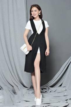 Bộ áo váy rời dạo phố thiết kế có tay cực dễ thương #1026
