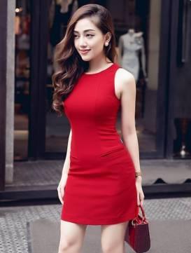 Váy ôm body ngắn thiết kế đơn giản cực tôn dáng #1030