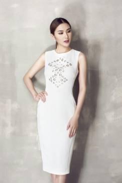 Đầm dự tiệc màu trắng thiết kế ôm body tuyệt đẹp #1051