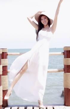 Đầm voan dài đi biển thiết kế trẻ trung, dễ thương #1057