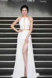 Đầm dạ hội sang trọng thiết kế xẻ tà viền vàng quý phái #1061