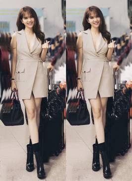 Đầm vest Ngọc Trinh thiết kế đơn giản, trẻ trung #1077