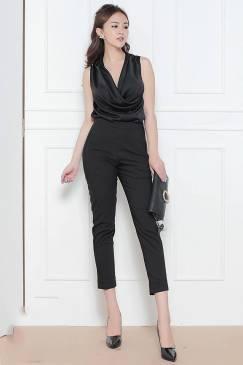Bộ quần áo đẹp thiết kế cỗ đỗ đơn giản trẻ trung #1090