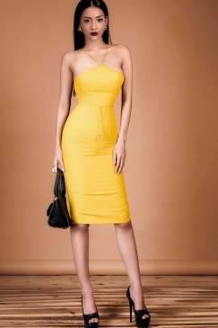 Đầm yếm cột dây eo thiết kế ôm sát body sexy #1097