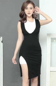 Đầm đẹp dạo phố thiết kế đơn giản dễ thương #1099