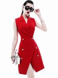 Đầm đẹp đi đám cưới thiết kế vest trẻ trung, tinh tế #1106