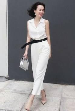 Bộ quần áo sơ mi nữ đơn giản như Angela Phương Trinh #1116