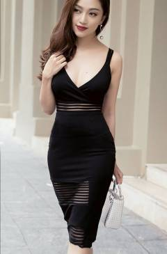 Váy 2 dây ôm body thiết kế pha ren trẻ trung, tinh tế #1117