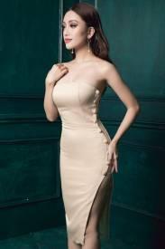 Đầm xẻ tà cao cấp thiết kế cúp ngực ôm body tôn dáng #1156