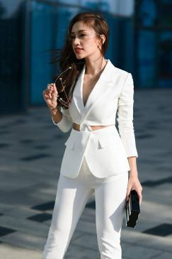 Bộ áo quần ôm body giả vest phong cách trẻ trung #1168