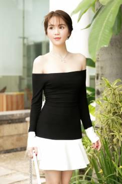 Váy trễ vai Ngọc Trinh thiết kế đuôi cá dễ thương #1179