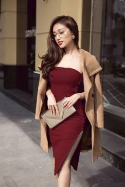 Đầm xẻ tà đẹp thiết kế cúp ngực ôm body trẻ trung #1156