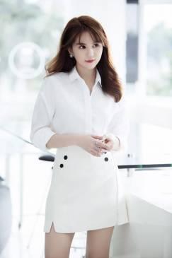 Bộ áo váy công sở thiết kế đơn giản như Ngọc Trinh #1162