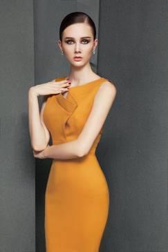 Đầm dài ngang gối thiết kế ôm body tuyệt đẹp #1201