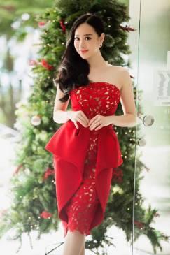 Đầm peplum dự tiệc thiết kế pha ren tuyệt đẹp #1210