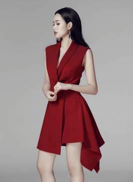 Đầm vest sát nách thiết kế đơn giản sang trọng #1213