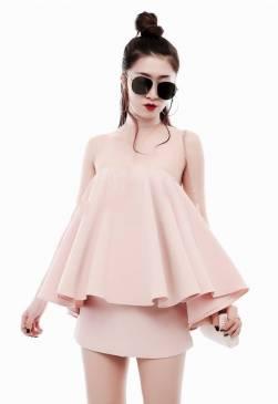 Bộ Áo ống xòe và Chân váy ngắn thiết kế dễ thương #1236