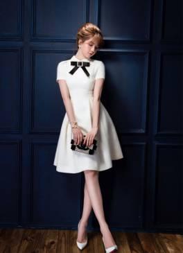 Đầm trắng xòe đẹp thiết kế trẻ trung như Ngọc Trinh #1262