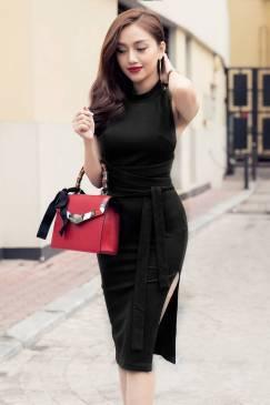 Đầm đen hở lưng cột dây thiết kế ôm body tuyệt đẹp #1263