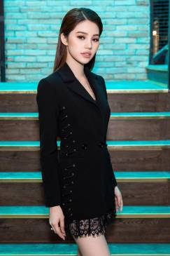 Đầm vest đen phối ren thiết kế trẻ trung thanh lịch #1271