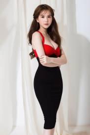 Đầm cúp ngực 2 dây thiết kế đen phối đỏ ôm body đẹp #1272