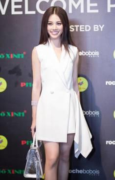 Đầm vest trắng sát nách thiết kế đuôi váy lạ mắt #1294
