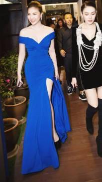 Đầm dạ hội trễ vai thiết kế ôm body xẻ tà tuyệt đẹp #1307