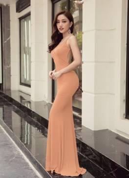 Đầm dạ hội hở lưng thiết kế ôm body tôn dáng sexy #1308