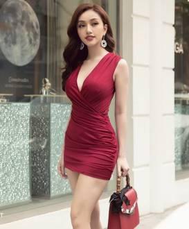 Đầm đô ôm body ngắn thiết kế hở ngực tuyệt đẹp #1345