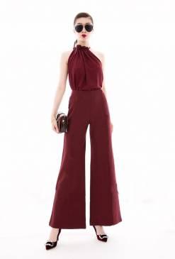 Bộ Jumpsuit dài ống suông thiết kế đơn giản sang trọng #1348