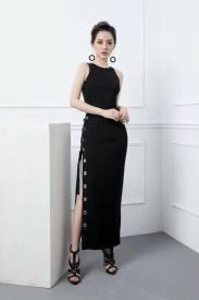 Đầm dài đen dự tiệc thiết kế ôm body sang trọng #1378