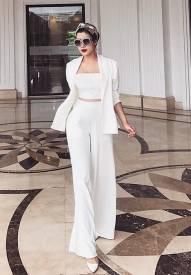 Bộ quần áo ống rộng thiết kế khoác vest quý phái #1406