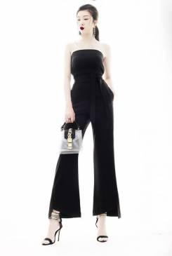 Jumpsuit dài ống suông thiết kế cúp ngực tuyệt đẹp #1399