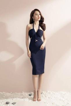 Đầm cúp ngực cổ yếm thiết kế ôm body tuyệt đẹp #1350