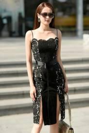 Đầm xẻ tà 2 bên chất liệu ren cao cấp tuyệt đẹp #1416