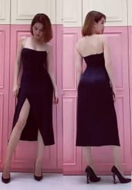 Đầm xẻ tà Ngọc Trinh thiết kế ôm body tuyệt đẹp #1412