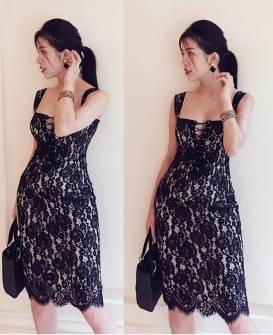 Đầm ren 2 dây body thiết kế đan dây ngực đẹp #1425