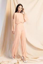 Bộ Jumpsuit dài ống rộng thiết kế tay dài tuyệt đẹp #1447
