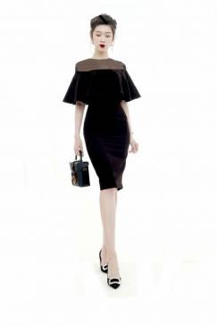 Đầm đen sang trọng thiết kế ôm body cực tôn dáng #1480
