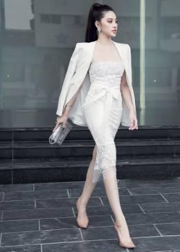 Đầm ren trắng cao cấp thiết kế 2 dây tuyệt đẹp #1472