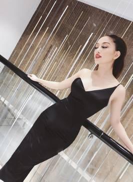 Đầm đen cúp ngực body thiết kế 1 vai tuyệt đẹp #1467