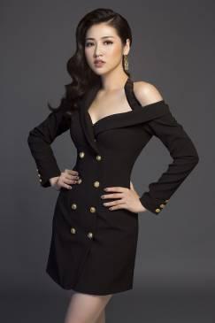 Đầm vest đen lệch vai thiết kế sang trọng, quý phái #1514